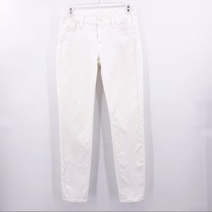 7 For All Mankind White Skinny Jeans Size 27